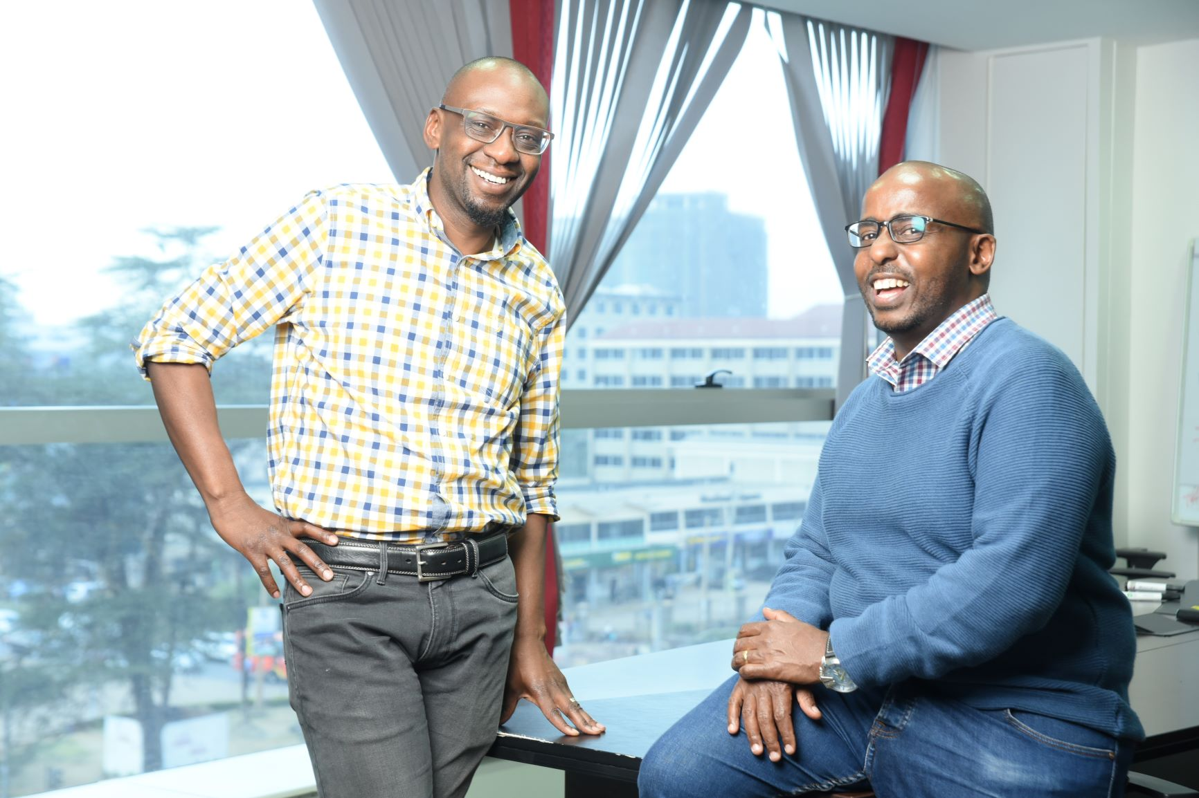 Cellulant co founder group ceo ken njoroge with george murage chief technology officer cellulan