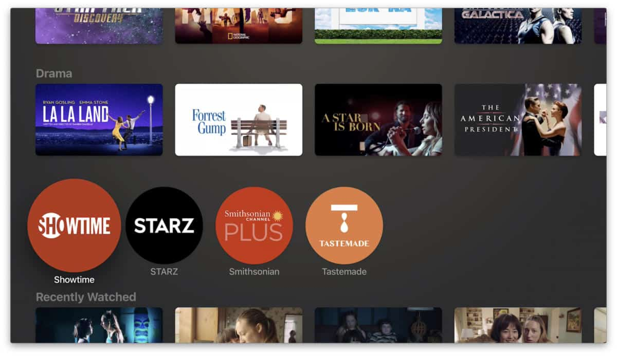 Showtime app on your apple tv